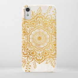 Queen Starring of Mandala-Gold Sunflower I iPhone Case