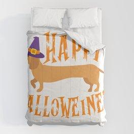 Happy Halloweiner Funny Halloween Weiner Dachsund T-Shirt Comforters