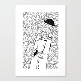 A Man In The Windy City Canvas Print