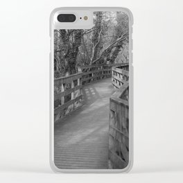 Walkway Donegal Ireland bw Clear iPhone Case