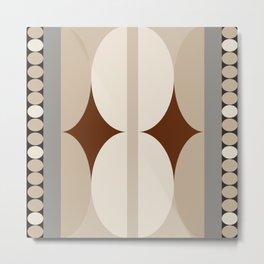 Taupe Linen Grey Neutrals Metal Print