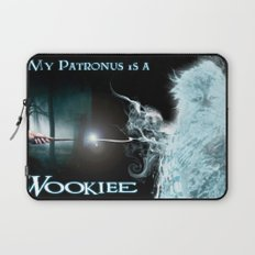 My Patronus is a Wookiee (with text) Laptop Sleeve