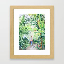 nice walk Framed Art Print