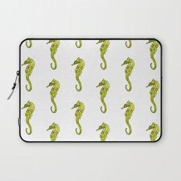 Watercolor Seahorses Pattern Laptop Sleeve