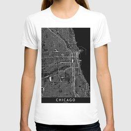 Chicago Black Map T-shirt