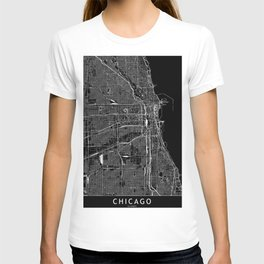 Chicago Black Map T-shirt