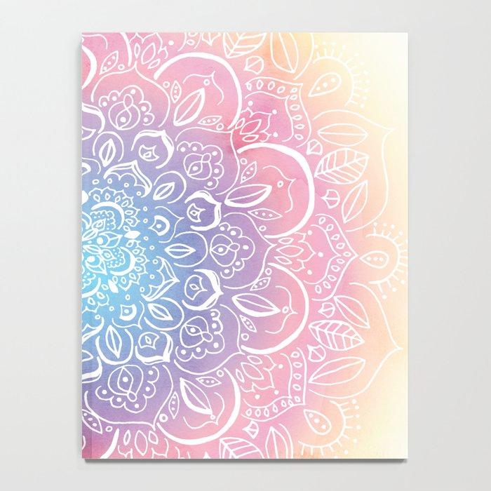 Rainbow Dust Mandala Notebook