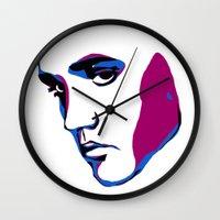 elvis Wall Clocks featuring ELVIS by HAUS OF DEVON