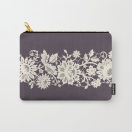 Lace Vertical Seamless Pattern. Carry-All Pouch