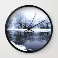 the neighbourhood Wall Clocks featuring Let It Snow by Mark Alder