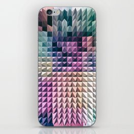 abstract volumetric geometric background with peak iPhone Skin