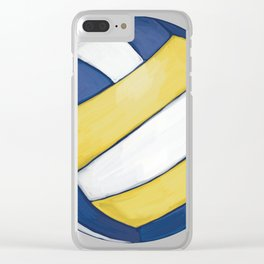 Volleyball Art Clear iPhone Case