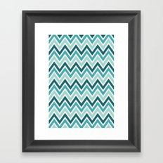Indie Spice: Turquoise Chevron Framed Art Print
