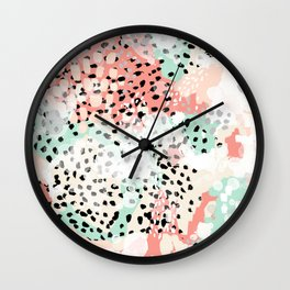 Phoebe - abstract painting minimal gender neutral trendy nursery decor home office art Wall Clock