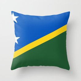 Solomon Islands Flag Throw Pillow