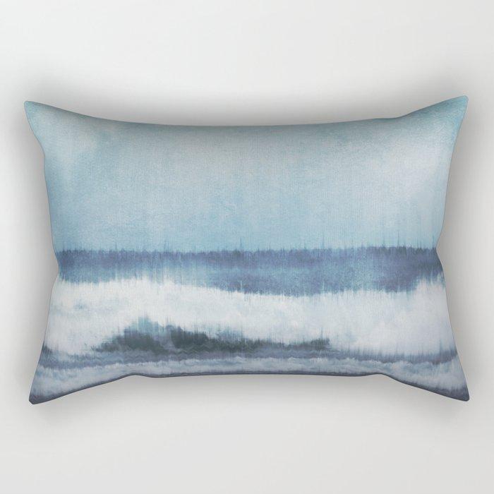 Wave Glitch 1 Rectangular Pillow