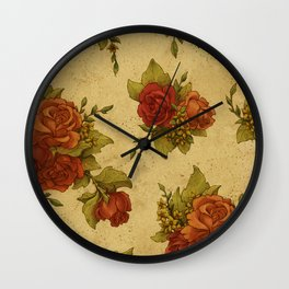 Antique Wallpaper 1 Wall Clock