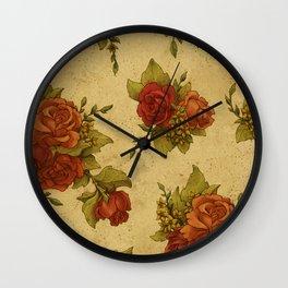 Antique Wallpaper 1 Wall Clock