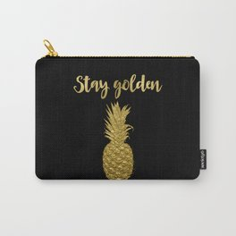 Stay Golden Precious Tropical Pineapple Carry-All Pouch