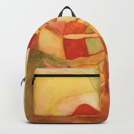 Watercolor Abstract Apple Backpack