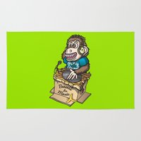 ape Area & Throw Rugs featuring DJ Ape by leondesigns