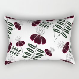 Floral pattern on a white background. Rectangular Pillow