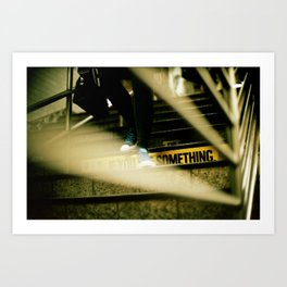 New York Subway Shoes Art Print