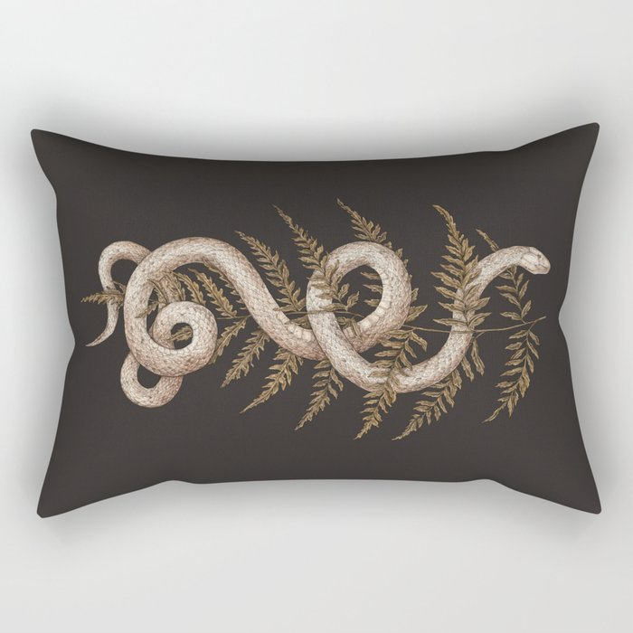 The Snake and Fern Rechteckiges Kissen