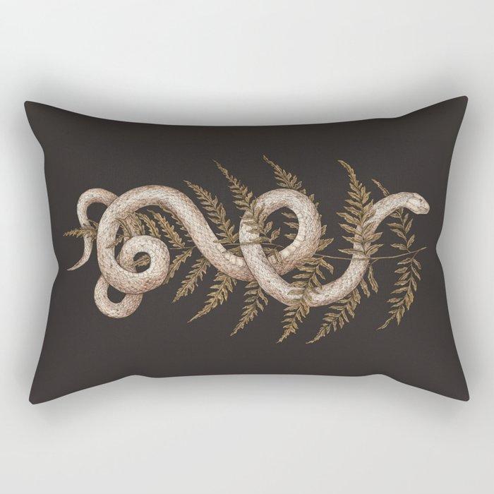 The Snake and Fern Rectangular Pillow