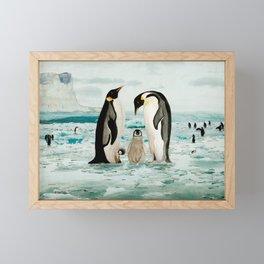 Emperor Penguin Family Framed Mini Art Print