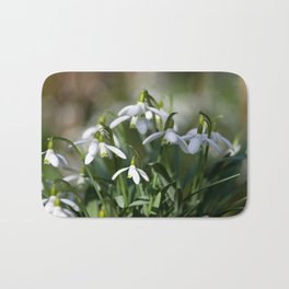 Floral Snowdrops! Bath Mat