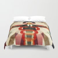 obama Duvet Covers featuring Obama Care by BradleyDean