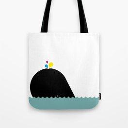 CMYK Whale Tote Bag