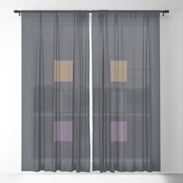 three elements || thunderstorm Sheer Curtain