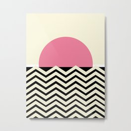 Pink Sunset Fuzz Metal Print