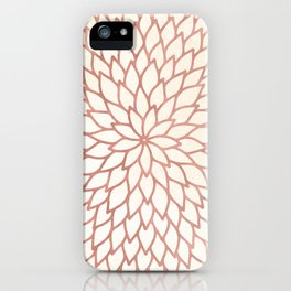 Mandala Flower Rose Gold on Cream iPhone Case