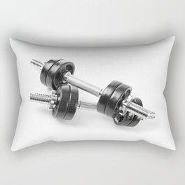 Chrome shiny hand barbells Rectangular Pillow