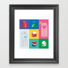 Stuff in a box Framed Art Print