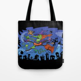 Crazy Witch Tote Bag