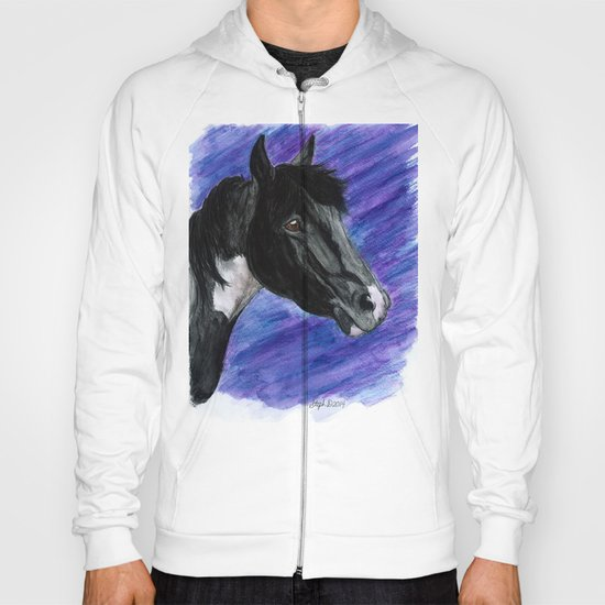 Watercolor Paint Horse Hoody