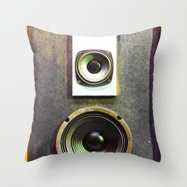 Vintage Retro Speaker Throw Pillow
