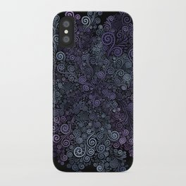 3d Psychedelic Violet and Teal iPhone Case