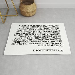 she was beautiful - fitzgerald quote Rug