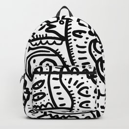 Eyes on you Street Art Graffiti Black and White Backpack