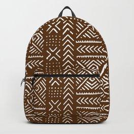Line Mud Cloth // Brown Backpack