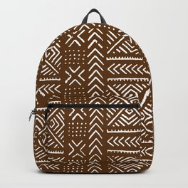 Line Mud Cloth // Brown Backpack