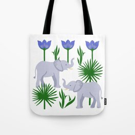 Elephant & Palms Tote Bag