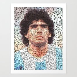 Homage to Maradona  Art Print