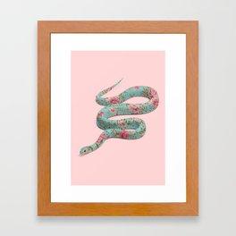 FLORAL SNAKE Framed Art Print