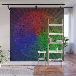 RGB Mandala Wall Mural